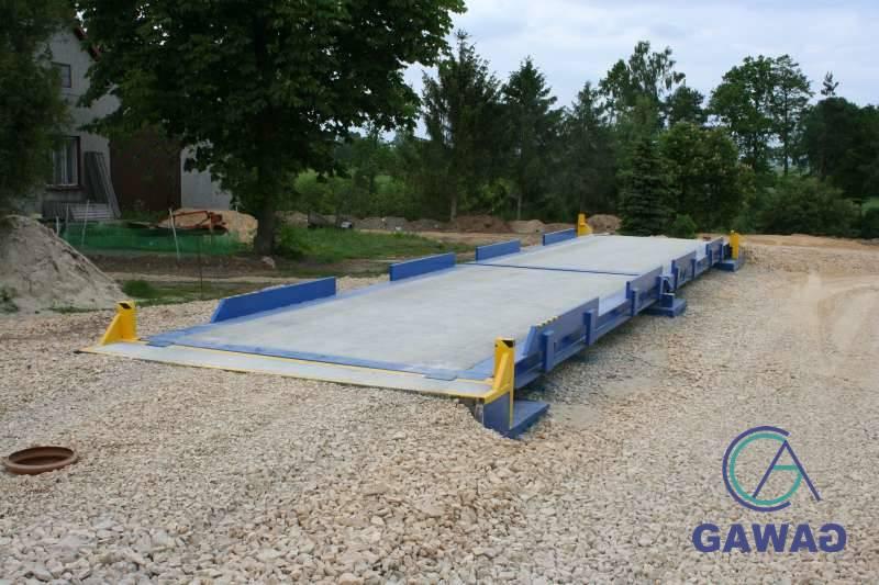 waga samochodowa stalowo-betonowa